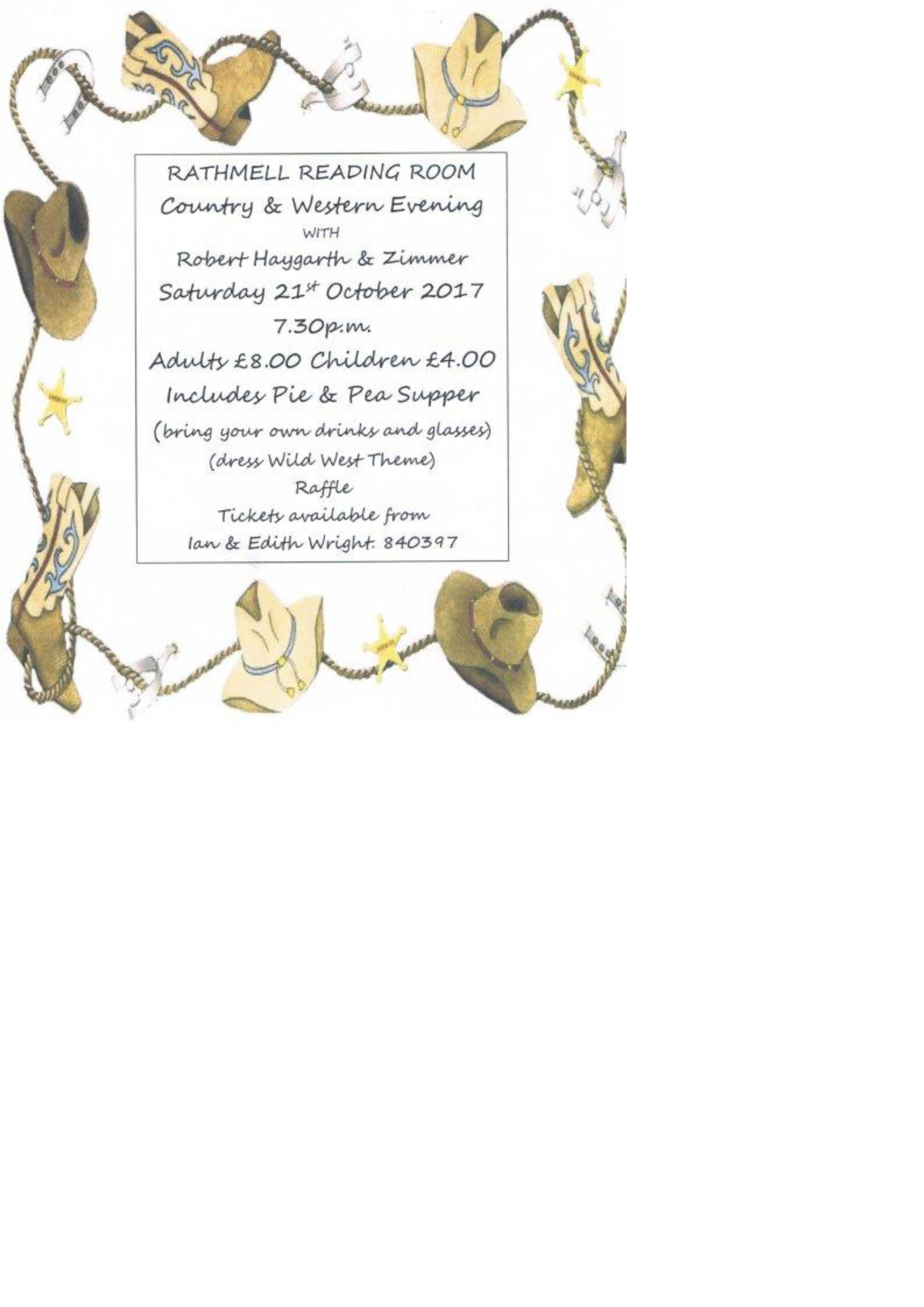 Country & Western Evening - Rathmell Village
